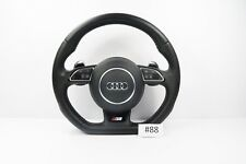 AUDI A1 S1 STEERING WHEEL WITH AIRBAG MULTIFUNCTION BUTTONS FLAT BOTTOM #88