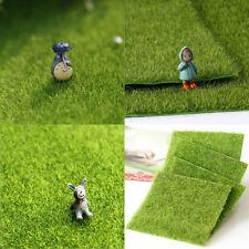 Fake Moss Miniature Artificial Lawn Grass Garden Fairy Wedding Décor 15*15cm NEW