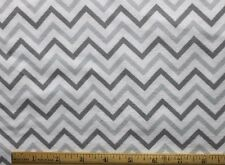 SNUGGLE FLANNEL -  GRAY on WHITE - CHEVRON PRINT 100% Cotton Fabric *NEW* BTY