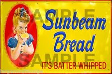 WEATHERED BARN BUILDING SIGN HO O N  VINTAGE SUNBEAM BREAD DECAL 2x3