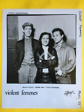 Violent Femmes 8x10 Press Photo, Gordon Gano, Brian Ritchie, Victor Delorenzo