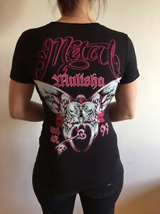 Metal Mulisha Ladies Tee Shirt Motocross FMX BMX Surf Skate Snow Board Punk Goth