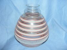Vintage Glass Lamp Shade Lampshade Original 1950 60s 70's Retro Pattern Striped