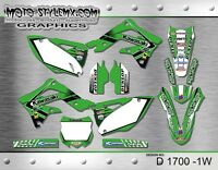 Kawasaki KX 450f 2013 up to 2015 graphics decals kit Moto StyleMX