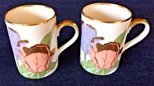 "Fitz and Floyd ""Tulipe d'Or"" Coffee/Tea Cups~Set of 2~Excellent Condition"