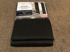 "Mainstay 84"" X 30"" Room Darkening Curtains 2 Panels (Black Woven)"