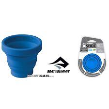 Sea to Summit X-Shot BLUE - Unbreakable Shot Glass / Espresso Cup, Folds Flat