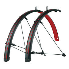 SKS Stainless Steel Bike Fender 45MM Red Buemels Stingray Set for Bicycle