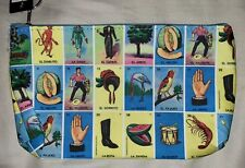 Wallet Keychain Zipper Coin Bag Mexican Loteria Bingo Board Game New