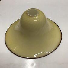 Lampadario da soffitto plafoniera a campana in vetro di murano crema