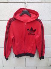Veste à capuche ADIDAS 70's vintage Trefoil rouge tracktop jacket jacke XS