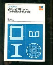 Werkstoffkunde für die Bauindustrie 1979