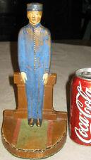 Antique Cjo Judd Cast Iron Hotel Bell Hop Man Art Deco Statue Doorstop # 1244