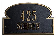 Whitehall Portobello Address Plaque Personalize Compact Marker Sign 17 Colors