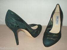 Jimmy Choo Kerwick pumps shoes heels 36.5 6.5 green suede mesh inserts platform