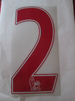 no 2 Premier League EPL Football Shirt Name Set Rear Number Red Sporting ID