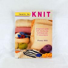 Apprendre Pour Tricot par Penny Hill