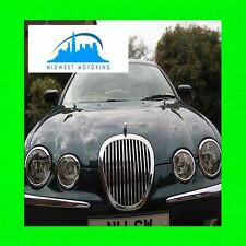 2000-2008 JAGUAR S-TYPE CHROME GRILLE TRIM 2001 2002 2003 2004 2005 2006 2007