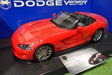 DODGE VIPER SRT-10 prototype cabriolet rge 1/18 AUTOart 71701 voiture miniature