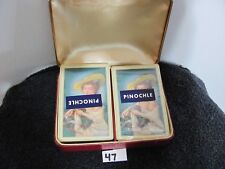 Vintage USIR Playing Cards Tax Stamp Unopened 2 Pinochle Decks 1940-1965      47