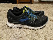 Brooks Glycerin 16 Men's Running Shoes Black/Blue/Green Size 9.5 EUC
