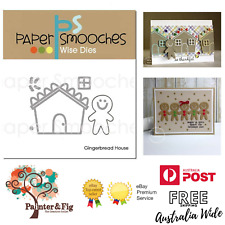 Paper Smooches Gingerbread House Dies - Gingerbread Man, Christmas