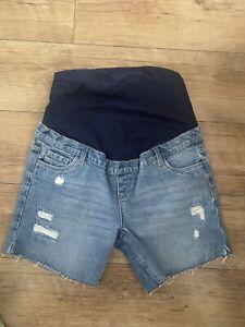 New Asos Maternity Denim Ripped Shorts Size 10