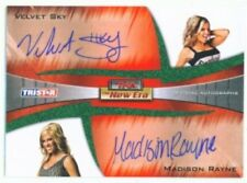 "VELVET SKY & MADISON RAYNE ""AUTOGRAPH CARD /25"" TNA NEW ERA 2010"