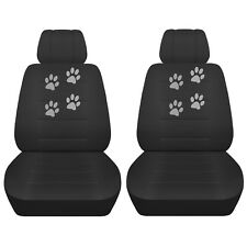 Fits 2016 Dodge Grand Caravan Charcoal Seat Covers with Paw Prints with SWC