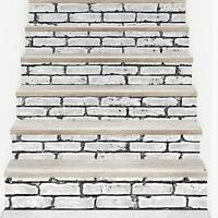 3D Creative Tile Stairs Stickers Removable Waterproof Stairs Mural 100CMx18CM