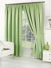 Faux Silk Fully Lined Curtains Pencil Pleat or Eyelet Ring Top Free Tiebacks