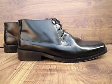 JEFF BANKS LONDON MEN'S BLACK CHELSEA LEATHER DRESS ANKLE BOOTS SIZE UK 8 EUR 42