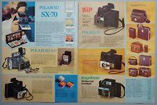 1975 Vintage PAPER PRINT AD 2-pg POLAROID ZIP KEYSTONE camera cases NOLA banjo