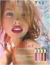 ▬► PUBLICITE ADVERTISING AD Pomotion maquillage Dior addict gloss 2005
