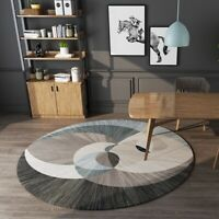 Modern Round Carpet Area Rugs for Living Room Bedroom Non-slip Floor Mat Decor