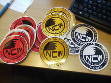 STICKER - Surfing NCW CORNWALL (North Coast Wetsuits) Van / Car / Board ( 10cm )