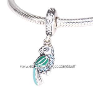 Tropical Parrot Authentic Pandora 925 Sterling Silver Dangle Charm 791903ENMX