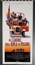 Al Centro dell'Area di Rigore locandina poster Aquilani Borgese partita