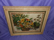 Vtg Homco Home Interior Floral Claudessa Picture Flowers In Basket #1798 Cw