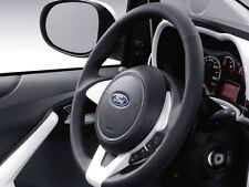 Genuine Ford Ka Leather Steering Wheel - Black Leather / Pearl White (1573470)