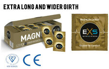 8x EXS MAGNUM XL EXTRA LARGE WIDE FIT LATEX CONDOM CONDOMS CE / Kitemark Quality