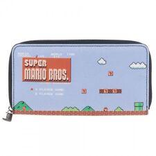NEW Official Nintendo SUPER MARIO BROS WOMENS WALLET Flat Zip Around Clutch CUTE