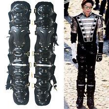 MJ MICHAEL JACKSON History Whitehouse Munich Black Handmade Leg Armor Kneepads