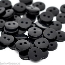500PCs Black Round Resin Sewing Buttons Scrapbooking 9x2mm