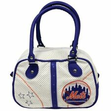 New York Mets MLB Licensed Off White Pebble Grain Bowler Bag - Lightweight 7bcc7a0a4076c