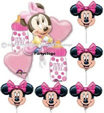 MINNIE MOUSE BABY SHOWER BALLOONS BOUQUET AND MINI SHAPE CENTERPIECES DECORATION