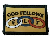 Order of Odd Fellows Morale Patch Tactical Army Military Flag USA Badge Hook