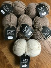 Toft Chunky - 5 x 100g - 4 Stone and 1 Cream