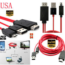 2M MHL to HDMI HD TV Adapter Cable for Samsung Galaxy Tab 3 10.1 8.0-Inch Tablet
