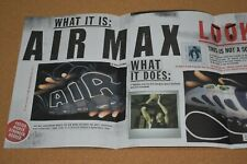90s Print Ad Michael Johnson Nike Air Max Shoe promo Lisa Leslie John Stockton
